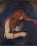 """Vampire"", 1895. Oil on canvas (Munch Museet)"