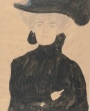 Gustave Klimt. Lady with Plumed Hat, 1908