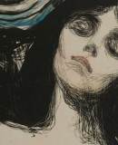 Edvard Munch, Madonna, handcoloured lithograph, 1895. Detail. (c) Munch Museum