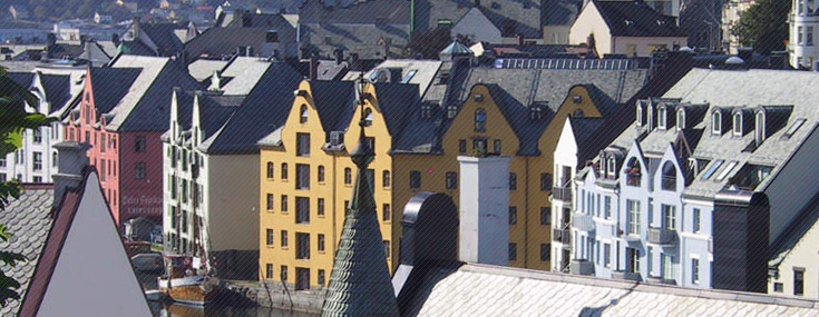 General view of Ålesund's Jugendstil district (© Jugendstilsenteret)