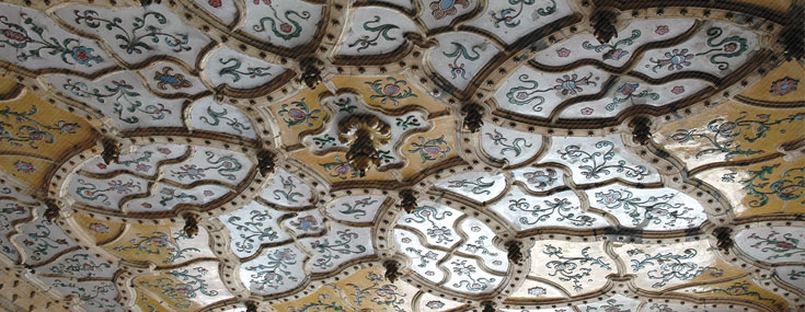 Ödön Lechner, 1893-1896. Museum of Applied Arts, detail of the ceiling (© Janos Gerle)