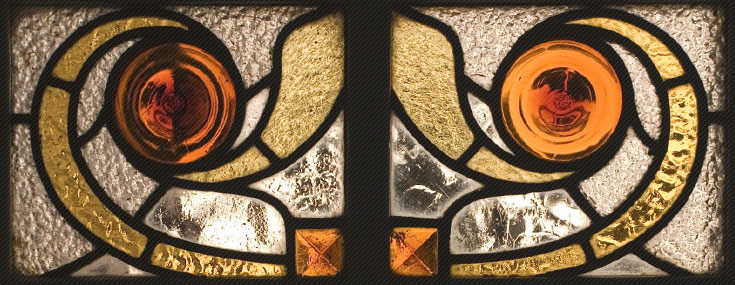 Manuel Joaquim Raspall, 1917-1922. Detail of stained glass window in Casa Viader (Museu Arxiu Tomàs Balvey)