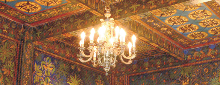 Felipe Bello Piñero, 1925. Ceiling paintings for Rodolfo Ucha's 1920 Casino Ferrolano (© www.ferrol-modernista.org)