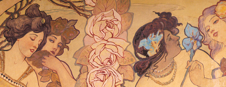 Ernesto Basile, 1899. Villino Florio. Detail of the mural paintings inside the villa (Sandro Scalia © IMPUiQV)