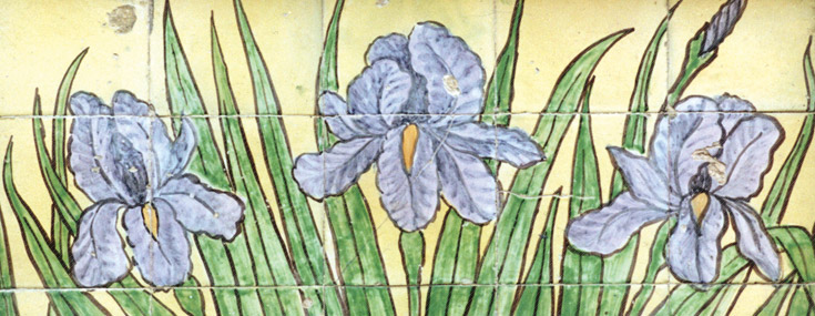Author unknown, 1912. Detail of waterlilies on the façade of Edificio dos Lirios (© Câmara Municipal de Aveiro)
