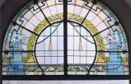 Friedrich Scheffe, 1907. Apartment building at Bazicas iela 5. Stained glass window. Riga