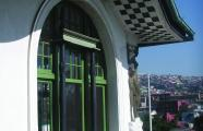 Detail of the Palacio Baburizza façade. Valparaíso