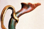 Zolnay, 1900. Eosin-glazed stem tulip pitcher