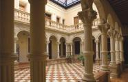 Central courtyard in the Centre Cultural Gómez Tortosa