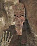 Egon Schiele <em>Self Seer<em> (<em>Death and Man</em>). (c)Leopold Museum, Wien. Inv. Nr. 451