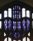 Charles Rennie Mackintosh, 1897.  Mackintosh Curch at Queen&acute;s Cross. The West Window, showing detail of <em>Blue Heart</em> (c) McAteer Photography (2007)